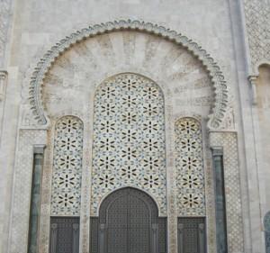 detalhe-de-la-mesquita-de-Hassan II-em-Casablanca